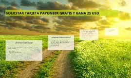 Solicitar Tarjeta Payoneer GRATIS