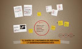EL DISEÑO DE CONTENIDOS EN RED PARA LA ENSEÑANZAUNIVERSITARI