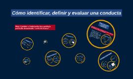 Cómo identificar, definir y evaluar una conducta