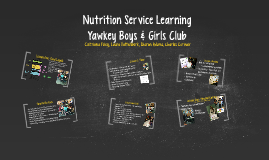Nutrition Service Learning