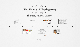 The Theory of Physiognomy