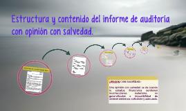 Estructura y contenido del informe de auditoria con opinión