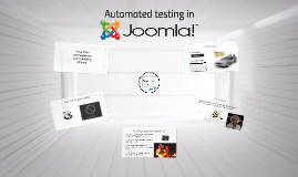 Automated System Testing in Joomla