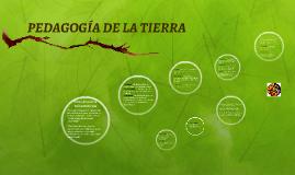 PEDAGOGIA DE LA TIERRA
