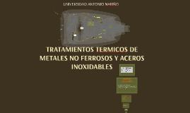 tratamientos termicos de materiales no ferrosos