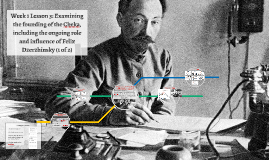 Week 1 Lesson 3: Examining the founding of the Cheka, including the ongoing role and influence of Felix Dzerzhinsky (1 of 2)