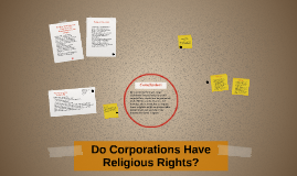 Corporations Religious Rights