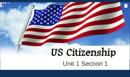 Unit 1, Section 1 Citizenship and How to Become a Citizen