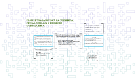 PLAN DE TRABAJO FINCA LA QUERENCIA, FINCAS ARBELAEZ Y PROYEC