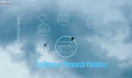 The Types of Research Variables
