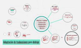 Adaptación de traducciones para doblajes
