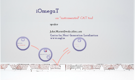 """iOmegaT - an """"instrumented"""" CAT tool"""
