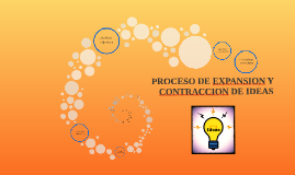 PROCESO DE EXPANSION Y CONTRACCION DE IDEAS