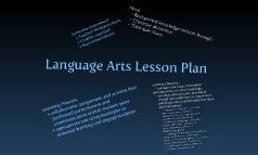 Language Arts Lesson Plantitle