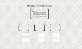 Monique's Writing Formula