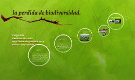 la perdida de biodiversidad.
