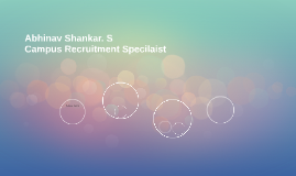 Abhinav Shankar. S                        Campus Recruitment