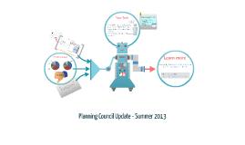 Planning Council Update- Summer 2013