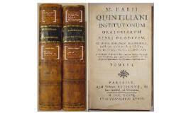 Ancient Rhetorical Theory: Quintilian
