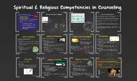 Spiritual & Religious Competencies in Counseling