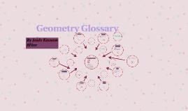 Geometry Glossary