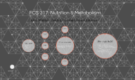 FCS 317: Nutrition & Metabolism