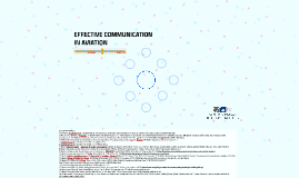 EFFECTIVE COMMUNICATION IN AVIATION