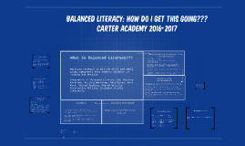 Balanced Literacy: how do i get this going???