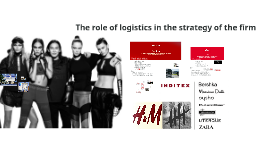 The role of logistics in the strategy of the