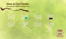 How to Cut Clutter