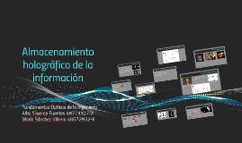 Almacenamiento holográfico de la información