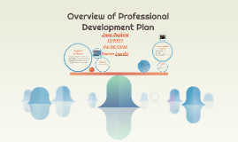 Overview of Professional Development Plan