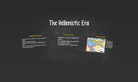 Hellenistic Era Background