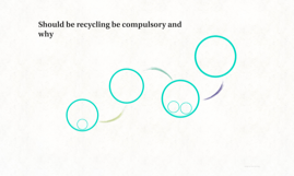 should be recycling compulsory and why by rohan mohanadas on prezi should be recycling be compulsory and wh