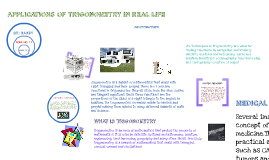 applications of trigonometry in real life
