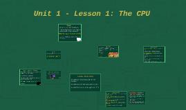 Lesson 1: The CPU