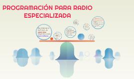 REcordemos la definición de Lòpez Vivil respecto a radio esp