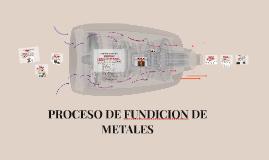 PROCESO DE FUNDICION DE METALES