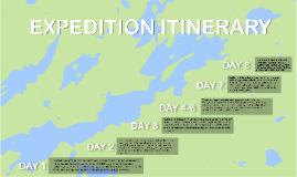 Canoe Expedition Itinerary