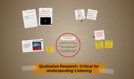 Qualitative Research: Critical for Understanding Listening