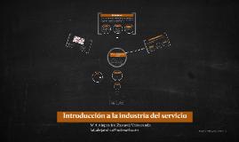 Copia de Introducción a la industria del servicio