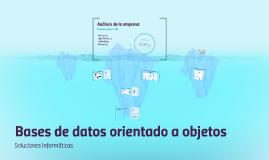Bases de datos orientado a objetos