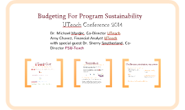 2014 Budgeting for Program Sustainability