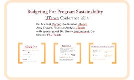 2014 Budgeting for Program Sustainability