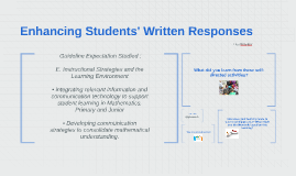 Enhancing Students' Written Responses