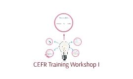 CEFR Training Workshop