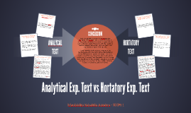 Analytical Exp. Text vs Hortatory Exp. Text