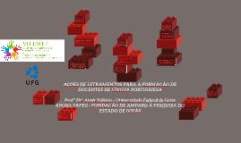AÇÕES DE LETRAMENTOS PARA A FORMAÇÃO DE DOCENTES DE LÍNGUA P