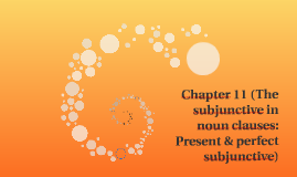 Chapter 11 (The subjunctive in noun clauses: Present & perfe
