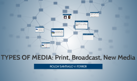 TYPES OF MEDIA: Print, Broadcast, New Media